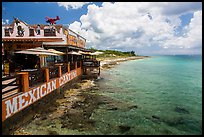 Beachfront restaurant, Puerta Maya. Cozumel Island, Mexico ( color)