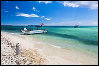Dive boats and beach. Cozumel Island, Mexico ( color)