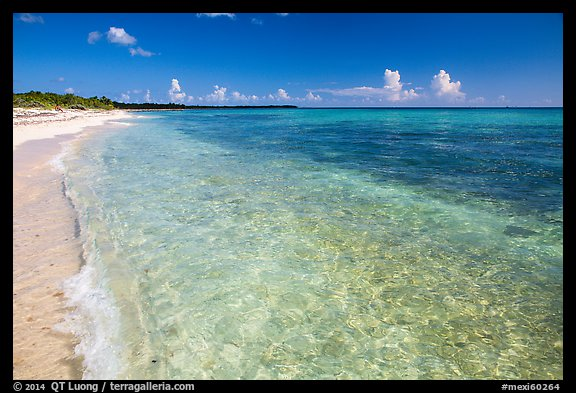 Beach with clear water. Cozumel Island, Mexico (color)