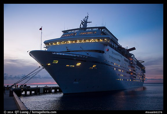 Cruise ship. Cozumel Island, Mexico (color)