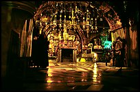 Decorated chapel inside the Church of the Holy Sepulchre. Jerusalem, Israel