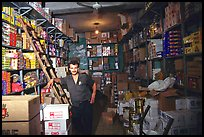 Man in a store, Hebron. West Bank, Occupied Territories (Israel) ( color)