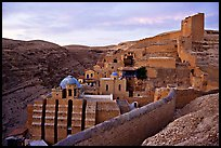 Mar Saba Monastery, sunrise. West Bank, Occupied Territories (Israel) (color)