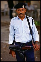 Palestinian Policeman, Jericho. West Bank, Occupied Territories (Israel) ( color)