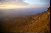 Maktesh Ramon (Wadi Ruman) Crater, sunrise. Negev Desert, Israel ( color)