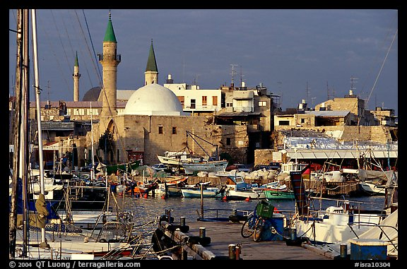 Port and Mosques, Akko (Acre). Israel (color)