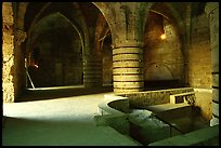 Medieval room of the Knights Hospitalliers quarters, Akko (Acre). Israel (color)