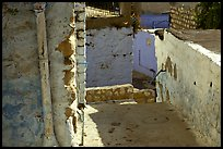 Walls and alley in the old city of Safed (Tzfat). Israel (color)