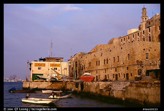 Waterfront along old city, Jaffa, Tel-Aviv. Israel (color)