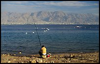Fishing in the Red Sea, Eilat. Negev Desert, Israel (color)