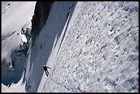 On the  North face of Tour Ronde, Mont-Blanc range, Alps, France. (color)