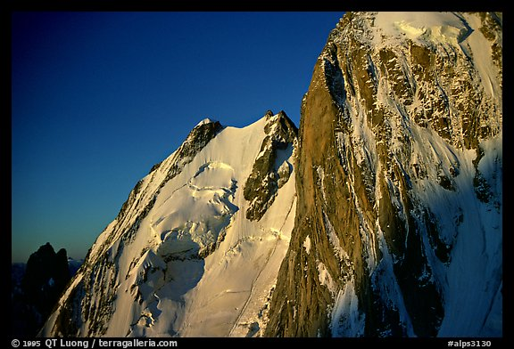 Grand Pilier d'Angle, Mont-Blanc, Italy.  (color)