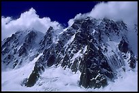 North face of Les Droites. Mont-Blanc range, French Alps