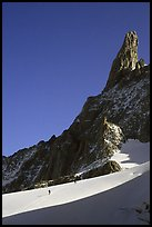 Approaching Dent du Geant, Mont-Blanc Range, Alps, France. (color)