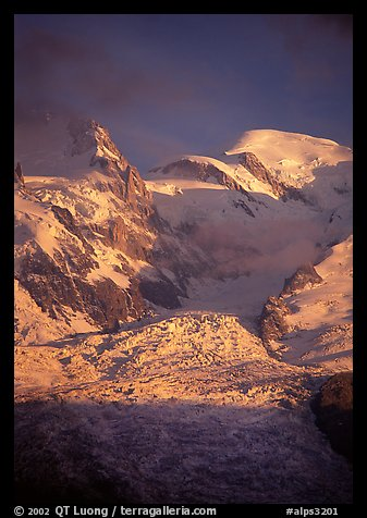 North Face of Mont-Blanc, France.  (color)