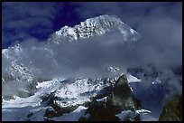 South Face of Mont-Blanc and Brouillard Pillars, Italy. (color)