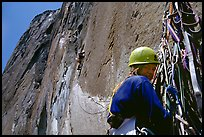 The belayer can relax once the rivet ladder is reached