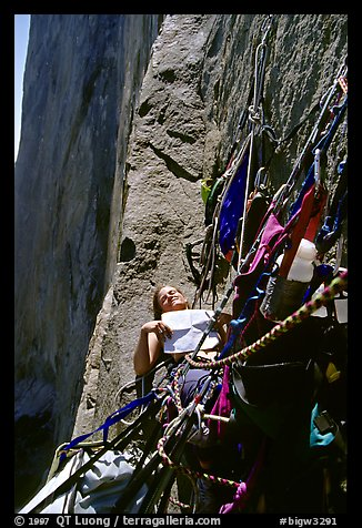 A ledge is even better. El Capitan, Yosemite, California (color)