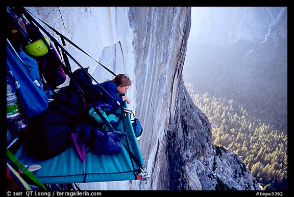 Lazy morning. El Capitan, Yosemite, California (color)