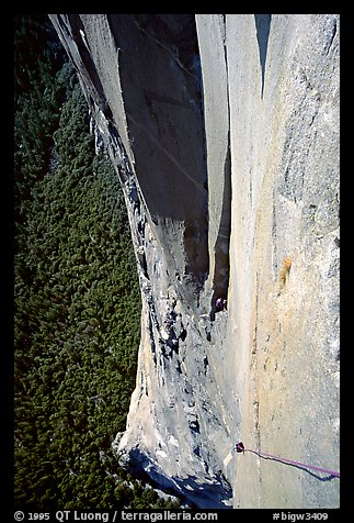 The impressive roof pitch. El Capitan, Yosemite, California (color)