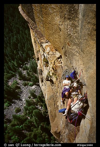 At least  a good ledge. Leaning Tower, Yosemite, California (color)