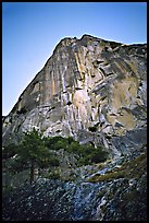 Shadow side: The Prow (the white streak). Washington Column, Yosemite, California (color)