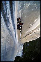 Portaledge bivy on the Dihedral wall