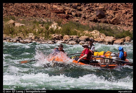 Rafting whitewater rapids. Grand Canyon National Park, Arizona (color)