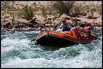 Raft in rapids. Grand Canyon National Park, Arizona