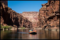 Raft in Marble gorge. Grand Canyon National Park, Arizona ( color)