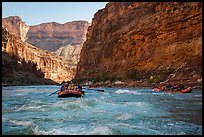 Rafts in rapids, Marble Canyon. Grand Canyon National Park, Arizona