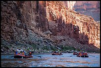 Raft convoy in Marble Canyon. Grand Canyon National Park, Arizona