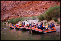 Beached rafts, Marble Canyon. Grand Canyon National Park, Arizona ( color)