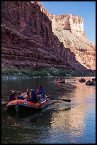 Late afternoon rafting in Marble Canyon. Grand Canyon National Park, Arizona