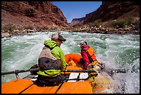 Raft in whitewater on Colorado River. Grand Canyon National Park, Arizona ( color)