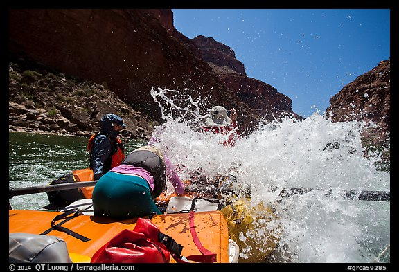 Incoming wave, Colorado River whitewater rafting. Grand Canyon National Park, Arizona (color)