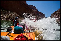 Incoming wave, Colorado River whitewater rafting. Grand Canyon National Park, Arizona ( color)