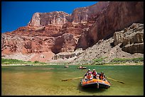 Rafts and Nankoweap cliffs. Grand Canyon National Park, Arizona ( color)