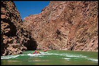 Rafts and rapids in Granite Gorge. Grand Canyon National Park, Arizona ( color)
