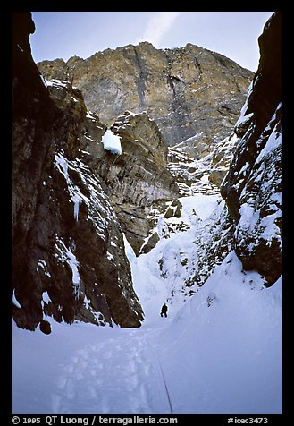 Snow gully on Polar Circus. Canada (color)