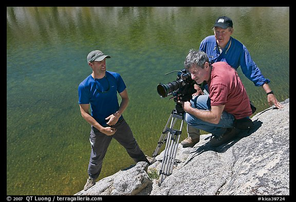 Picture Photo Cameramen Filming Near Lake Lower Dusy Basin