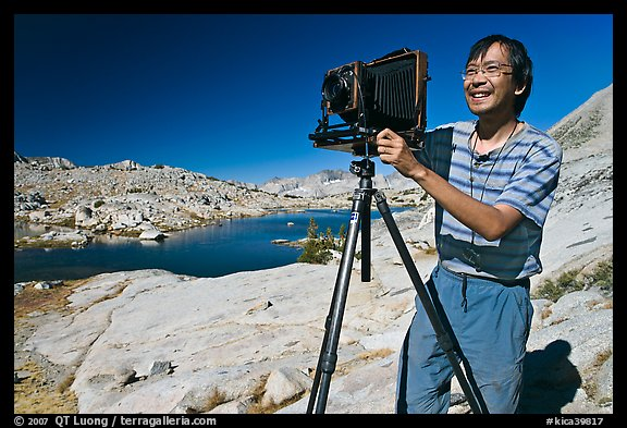 Photo By Buddy Squires Photographer QT Luong With Camera Dusy Basin Kings Canyon National Park California