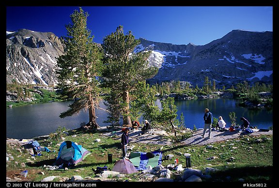 Camping near Woods Lake. Kings Canyon National Park, California (color)