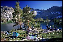 Camping near Woods Lake. Kings Canyon National Park, California