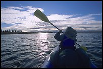 Paddling on the Kobuk River. Kobuk Valley National Park, Alaska