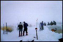 This evening fog is nothing to worry about, since the 7pm weather forecast is optimistic. Denali, Alaska (color)