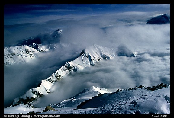 Picture Photo Storm Clouds Approaching Denali Alaska