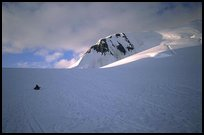 Traveling down with sleds. Denali, Alaska