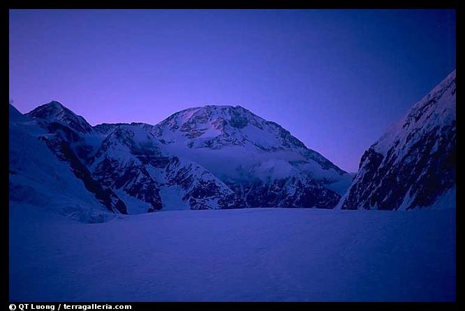 My last vision of the mountain (through the East Fork of the Kahilna Glacier). Denali, Alaska (color)