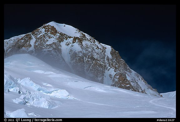 Lower section of West Buttress of Mt McKinley. Denali National Park (color)